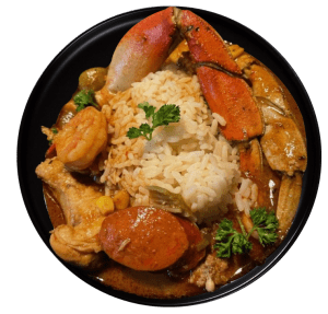 Crab Shrimp Chicken Sausage Combo with rice
